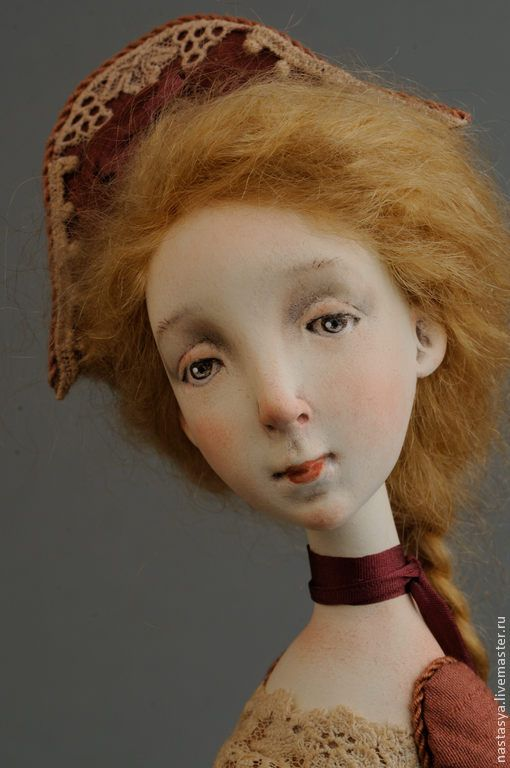 """Купить Авторская кукла """"Незнакомка"""" - коричневый, подарок, кукла, коллекция, коллекционная кукла, дорогой подарок"""