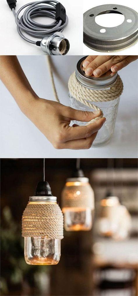 DIY Mason Jar Lights 25 Best Tutorials, Kits,  Supplies Ideas