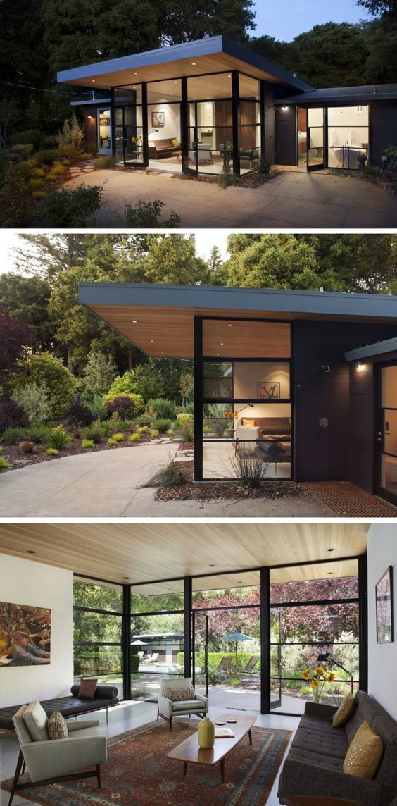 Architect Ana Williamson has completed a contemporary addition to a 1960's Eichler house located in Menlo Park, California.: