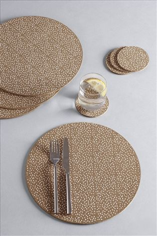 Set of 4 Printed Cork Placemats And Coasters Ikea cork