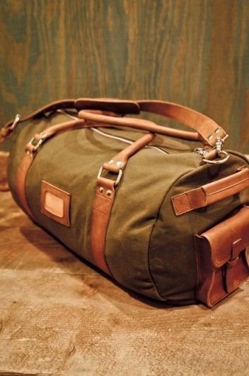 Canvas Duffle Bag For Men Rugged Leather Trim Waxed By Buffalo Jackson