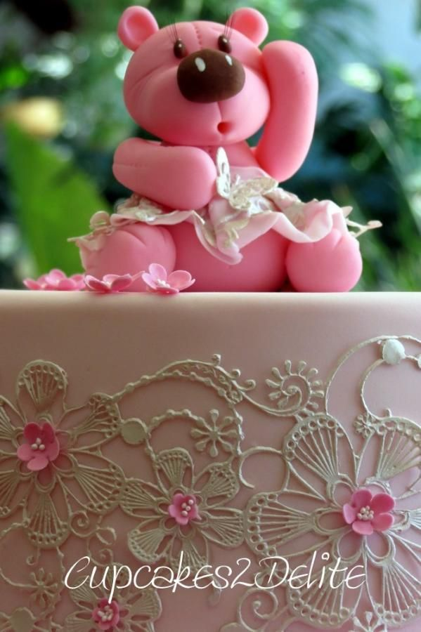 Teddy & Lace Cake - Cake by Lisa Cunningham