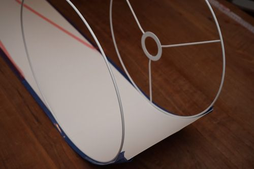 DIY - Anleitung für einen Lampenschirm aus Tapete