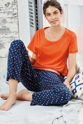 Buy Navy Spot Pyjama Set from the Next UK online shop