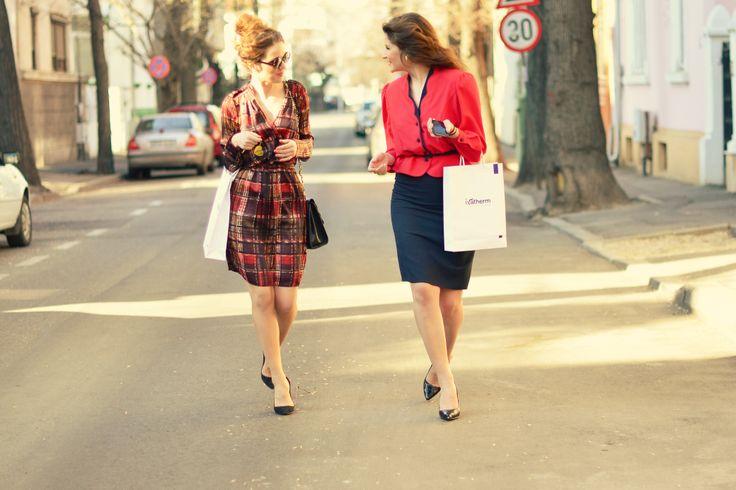 Andreea Bucovineanu (Ivatherm) and Ionela Mandrescu  #prettygirl #beauty #ivatherm #herculanethermalwater #fashion #streetstyle #bucharest
