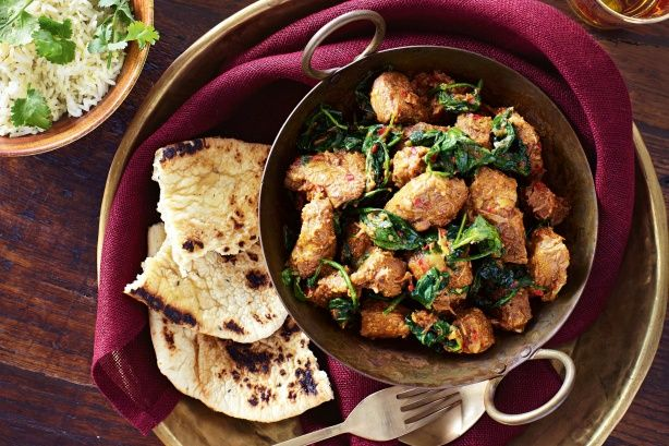 This spicy spinach curry is designed to tingle your tastebuds.