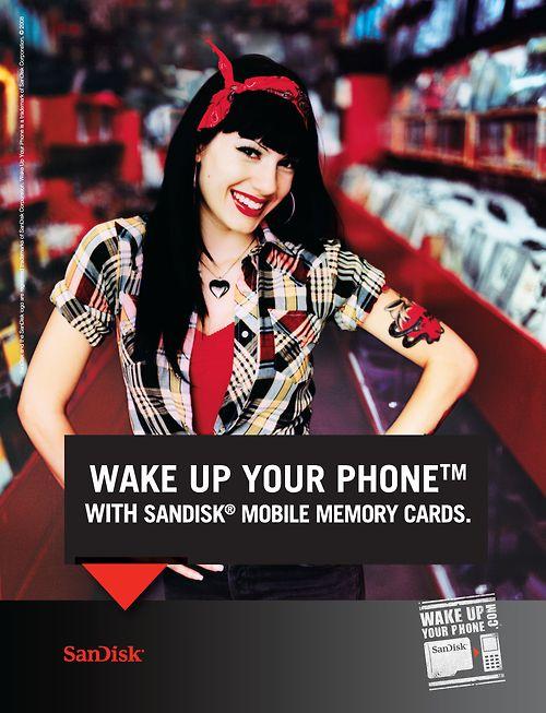 SanDisk Mobile Memory Cards - advert