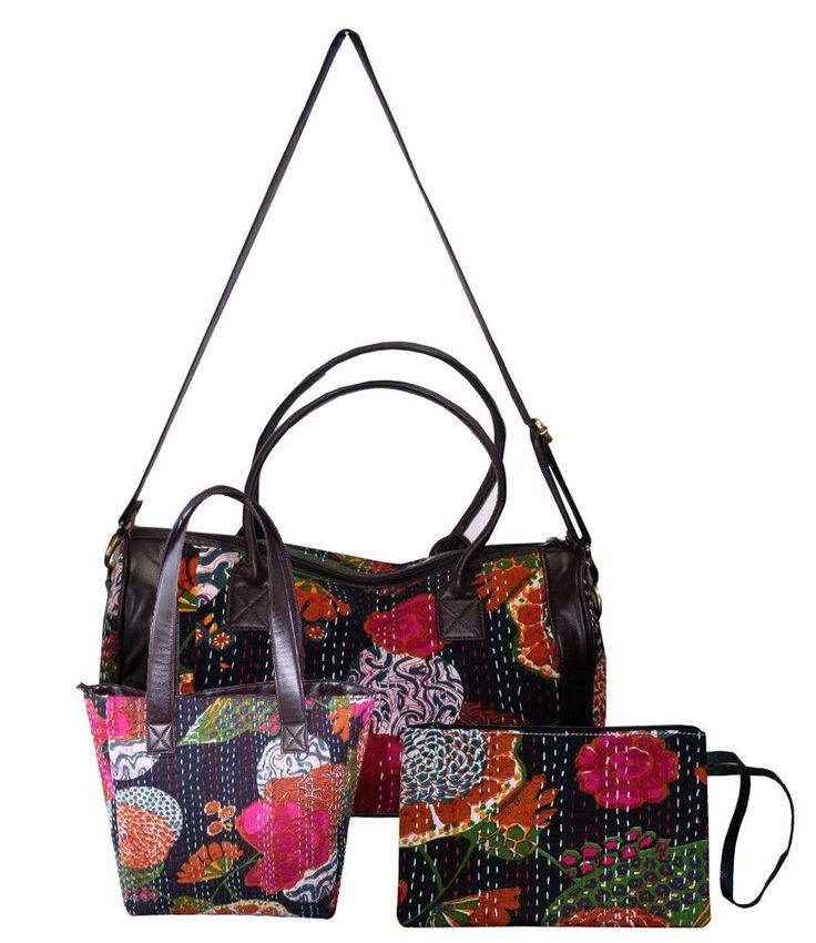 3Pcs Women Girls Bag Handbag Lady Shoulder Bags Tote Purse Messenger Satchel Set #Handmade #ShoulderBagToteBagClutchBag