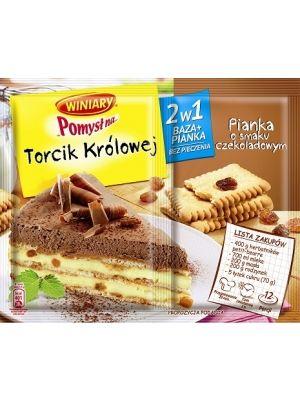 Pomysł na Torcik królowej  • ciasto bez pieczenia • zawsze się udaje • pasuje do każdej okazji • dwie bazy w opakowaniu