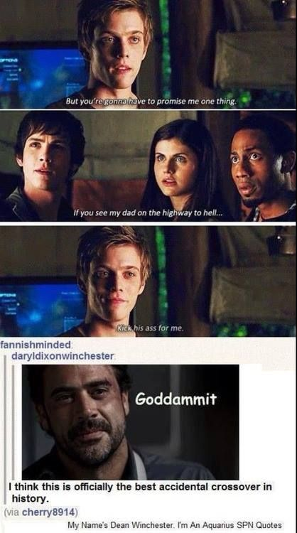 I'm so glad I came across this! I just watched Percy Jackson yesterday and was like...OMG at this part lol. Also, for those who didn't catch it, Death (spn) is the Ferryman in Percy Jackson =D
