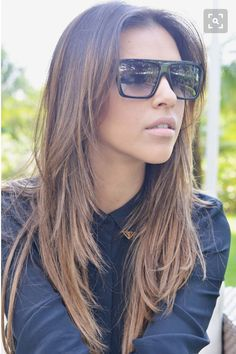 Image result for long straight hairstyles with choppy layers