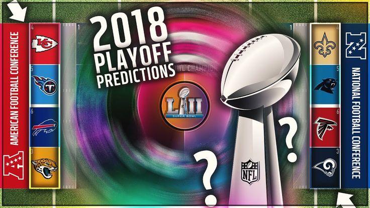 nice #2018 NFL PLAYOFF PREDICTIONS! Super Bowl UPSET?! Winner PREDICTION + FULL PLAYOFF BRACKET! -VIDEO