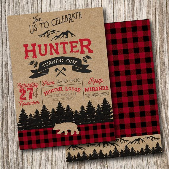 Plaid, Lumber Jack, Wilderness, Camping, Lumberjack, Clip Art, Graphics, Clipart, Invitation, Birthday, Invite, Bridal, Baby Shower