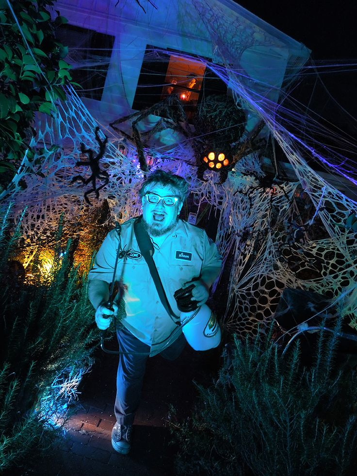 Mitchell Halloween 2013 Invasion of the Spiders. Love the use of different fabrics for the webs. Lighting is fantastic too.