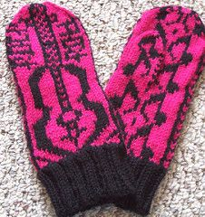 I am a huge Rock and Roll fan. I designed this mitten as a tribute to Rock and Roll music.