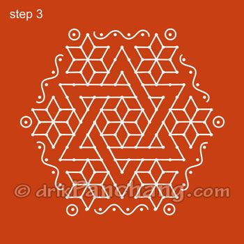 Dot Rangoli Step 3