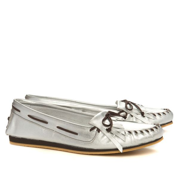 The Wind Silver A super smooth moccasin in softest possible silver calf leather on a chlorine free EVA sole. For the conscious shopper.