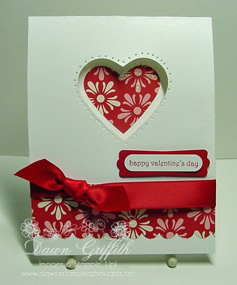 cut out heart: Cards Ideas, Cards Valentines, Happy Birthday Cards, Valentines Cards, Paper Crafts, Cut Outs, Valentines Day Cards, Stampin Up Cards, Heart Cards