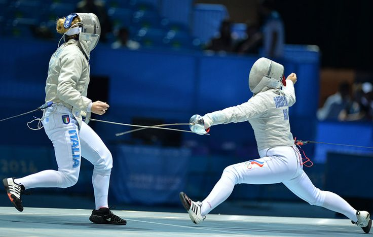 Alina Moseyko of Russian Federation in the Women's Sabre Final   Olympic Photo