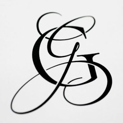 i just finished another wedding monogram for a bride on my etsy shop. the couples last names both start with the letter G. She wanted feminine and masculine letters for the monogram and after a 2.5 month collaboration she loved the results.