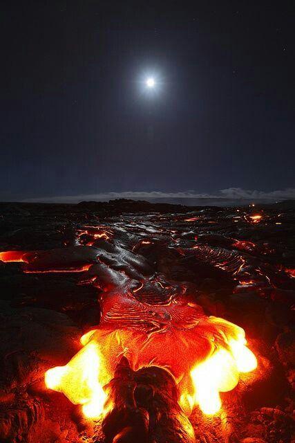 #On_Fire #Moon and Kilauea #Volcano, Big #Island, #Hawaii