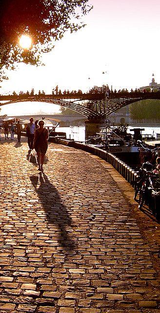 La Seine in Paris, France.  Went on a Bateau Mouche down the river La Seine in Paris singing La Vie en Rose.  What a lovely evening.