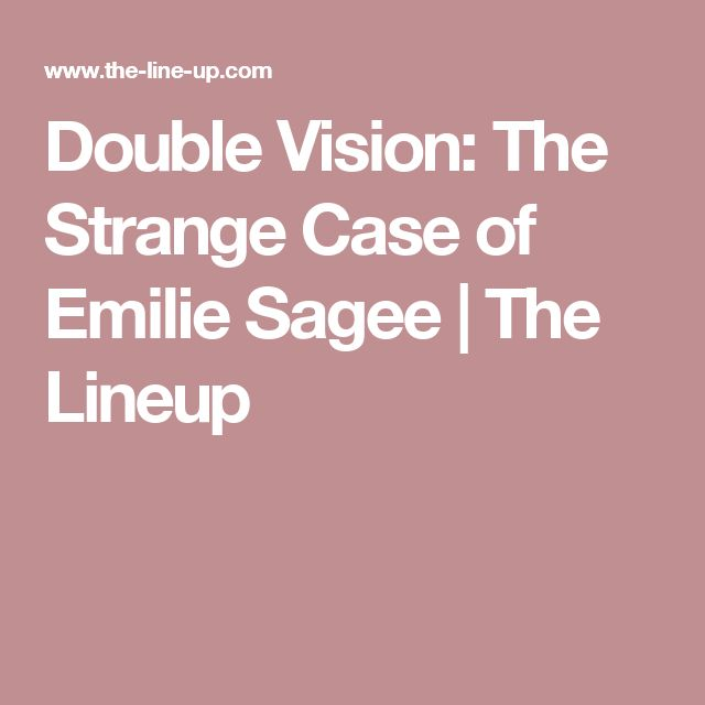 Double Vision: The Strange Case of Emilie Sagee | The Lineup