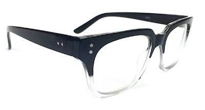 Retro Thick Frame Clear lenses Rectangular Gradient Wayfarer Unisex Eyeglasses