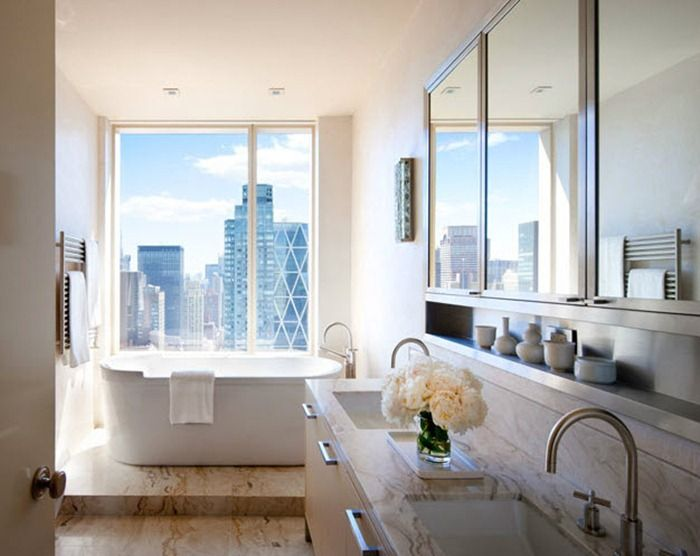file this under...'dope NY bathrooms'Bathroom Design, Bathtubs, The View, Central Parks, Interiors Design, Dreams House, Dreams Bathroom, New York Apartments, Cities View