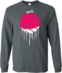 youll be oozing style in this volleyball paint long sleeve t shirt from - Volleyball T Shirt Design Ideas