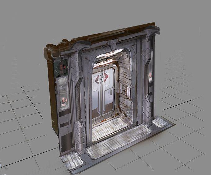 Mechanic door concept art google pinterest art google concept art and space games - Several artistic concepts for main door ...