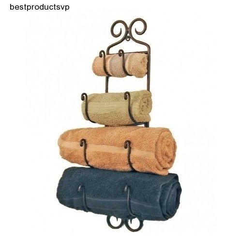 #Ebay #Hanging #Bath #Towel #Rack #Wrought #Iron #Holder