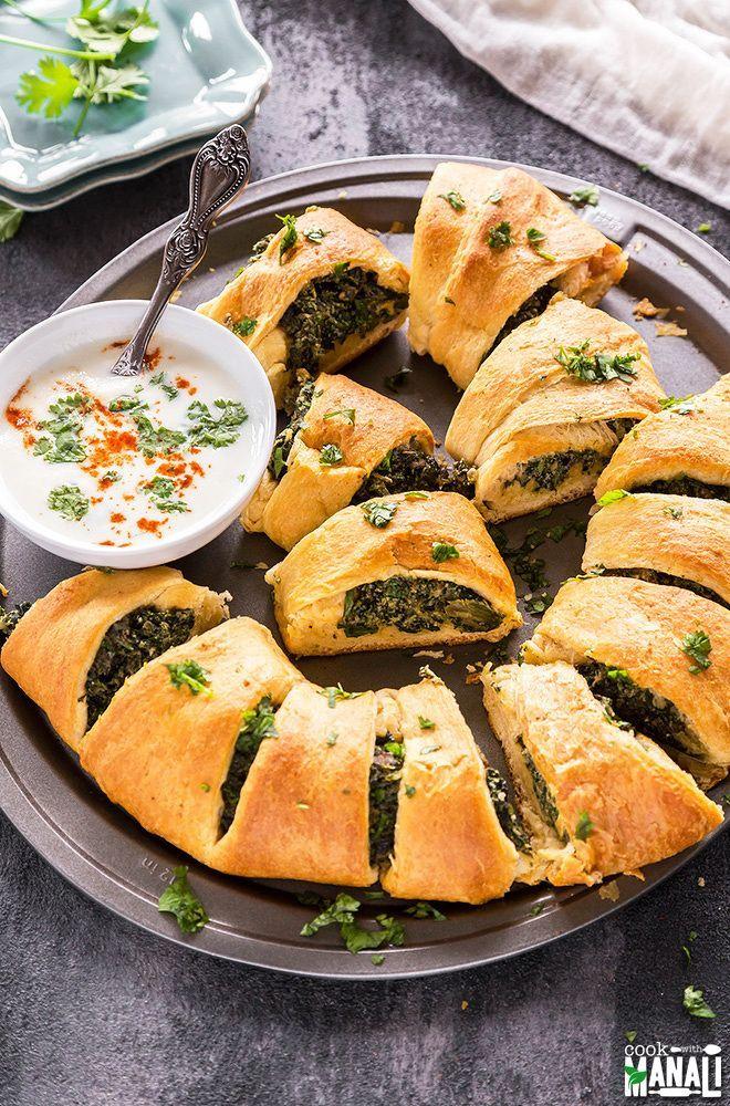 Mushroom Spinach Ricotta Crescent Ring An Easy Vegetarian