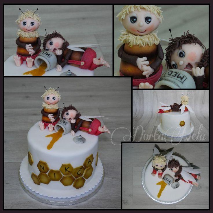 "CAKE WITH ""THE BEE BEARS"" (Včelí medvídci)"