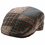 """First review for """"The Danish,"""" a patchwork ivy cap from Robert Graham. David from New York gives it five stars, saying it's a: """"Beautifully designed and finished ivy cap with a great fit thanks to the elastic rear. I wear the cap as a knock-around with jeans, but it also dresses up well."""" Item No. RG202"""