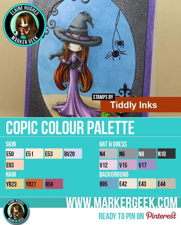 Tiddly Inks Bewitching Copic Marker Colour Palette - Marker Geek  #tiddlyinks #copic