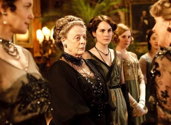 """Mary Crawley: """"Sybil is entitled to her opinions.""""    Lady Violet: """"No. She isn't until she is married, then her husband will tell her what her opinions are."""""""