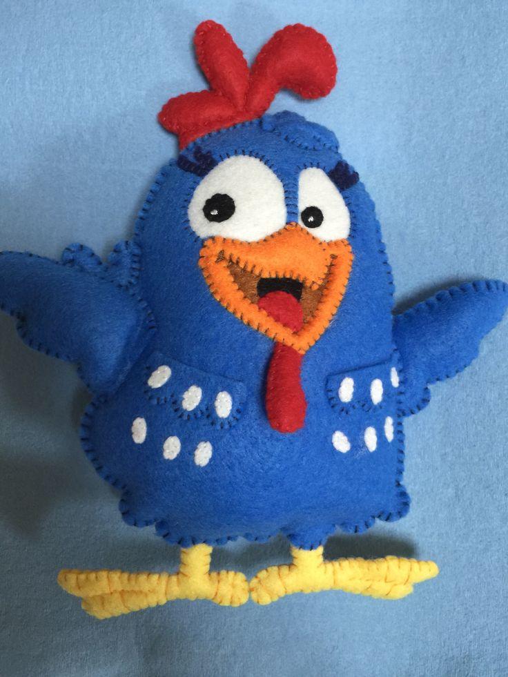Lottie Dottie Chicken (Hand-made with felt)