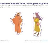Abraham Shared with Lot Puppets | Bible Crafts for Kids