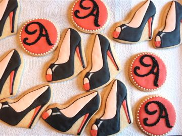 Louboutin shoe cookies