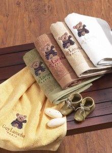 전통적인 명품 스타일 유렵 유명브랜드 기라로쉬 베어 세면 타올 겨울곰 수건의 특가 찬스