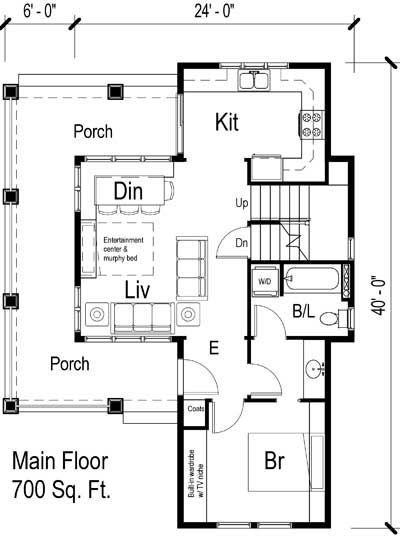 36 Best Images About New House Living On Pinterest Small: 700 square feet home plans