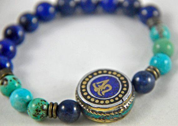 Lapis Lazuli,Wellbeing,Turquoise healing bracelet,Mala wrist bracelet,Chakra Health bracelet,protection bracelet,buddhist bracelet,yapa mala