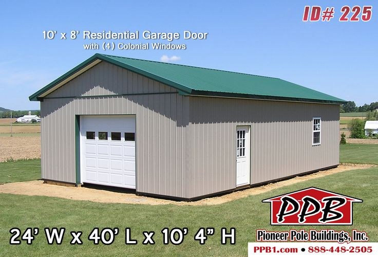 312 best residential pole buildings images on pinterest for 10 x 8 garage door price