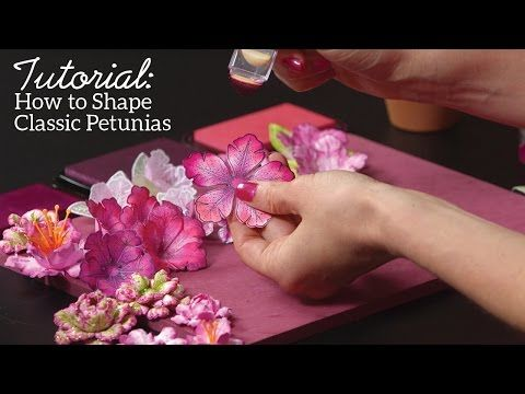 (4) EZ Classic Petunia Flowershaping Techniques featuring the Classic Petunia Collection - YouTube