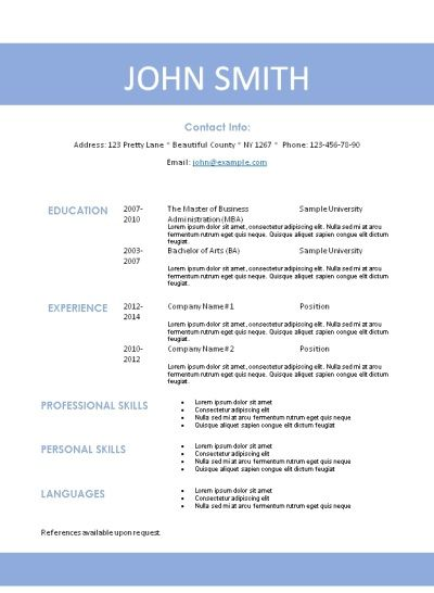 10 best Creative Resume Templates images on Pinterest Creative - resume templates 101
