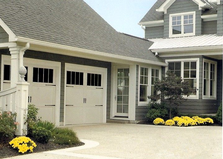 Carriage house doors breezeway entry garage inspiration for Carriage house garages