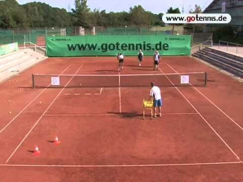 tennis drill: volleystop + smash