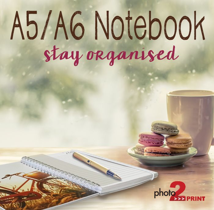 Grab one of these handy notebooks. There are 14 pages of your personal pics spread throughout the notebook. http://photo2print.co.za/notebook-a5-a6/