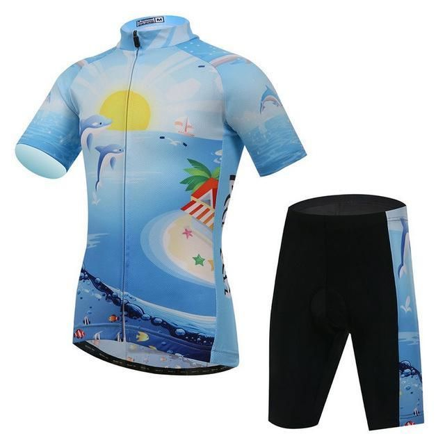 Children Short Sleeve Cycling Clothing Ropa Ciclismo Summer Cycling Bike  Jersey Sets Breathable 64b3649c7